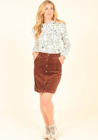 Brakeburn - Button Through Cord Skirt