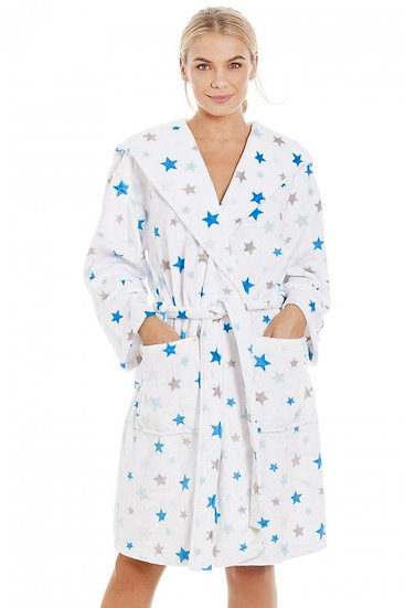 Camille - White Star Supersoft Dressing Gown