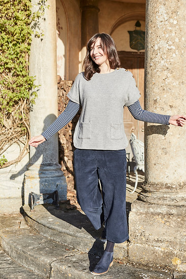 Lily & Me - Navy Cord Culottes