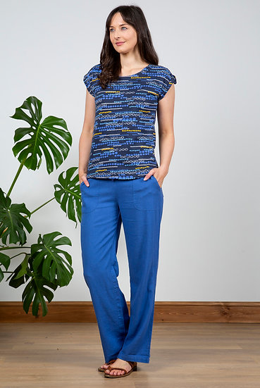 Lily & Me - Relaxed Everyday Trousers Cobolt