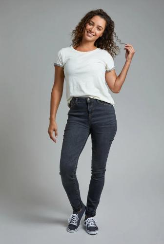 Weird Fish - Rini Organic Slim Fit Denim Jeans Grey Wash