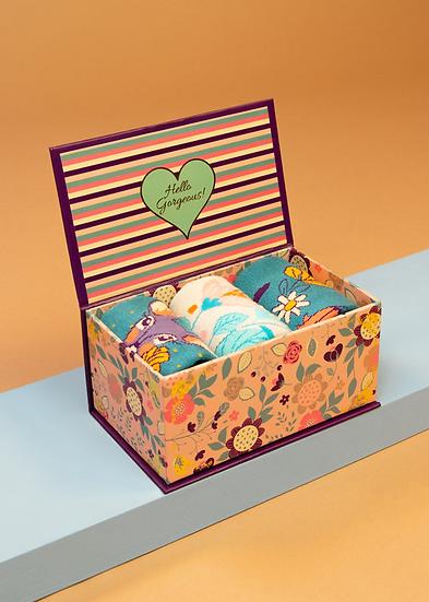Powder - Ladies Floral Deer Sock Box