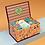 Thumbnail: Powder - Ladies Floral Deer Sock Box