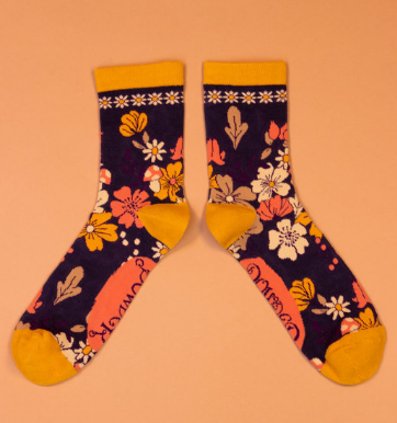 Powder - Floral Ankle Socks