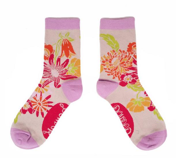 Powder - Retro Meadow Ankle Socks