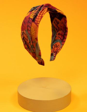 Powder - Printed Velvet Headband Scandi Forest