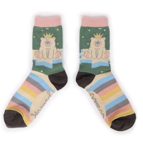 Powder - King Bear Ankle Socks