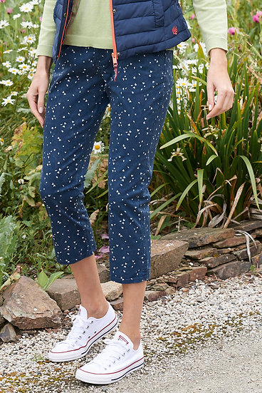 Lily & Me - Twill Cropped Trouser Ditsy