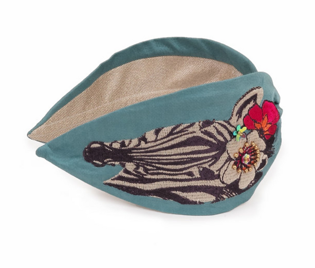 Powder - Floral Zebra Headband