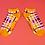 Thumbnail: Powder - Purple Check Trainer Socks