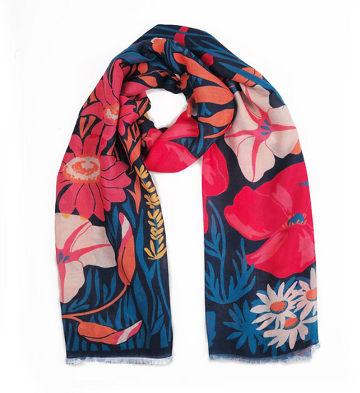 Powder - Country  Garden Scarf Navy