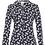 Thumbnail: Weird Fish - Ginny Organic Cotton Printed Jersey Shirt Navy
