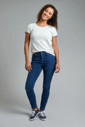 Weird Fish - Rini Organic Slim Fit Denim Jeans Dark Denim