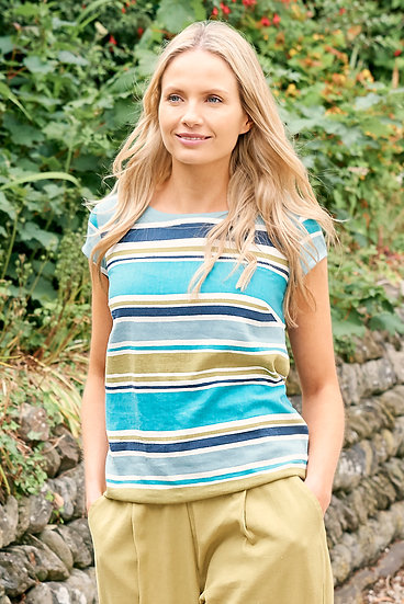 Lily & Me - Sun and Shade Top Stripe Linen