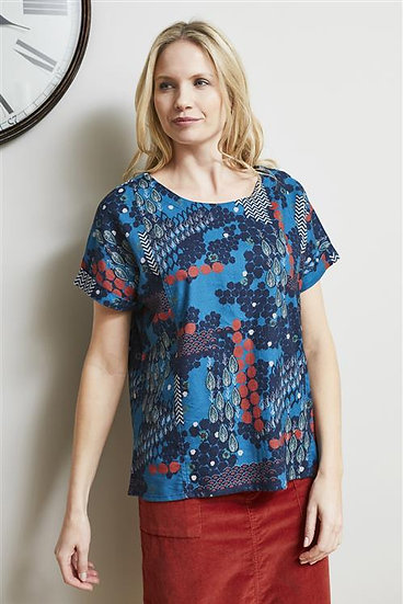 Lily & Me - Ali Top Patchwork Teal