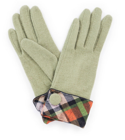Powder - Heather Wool Gloves Pea Green