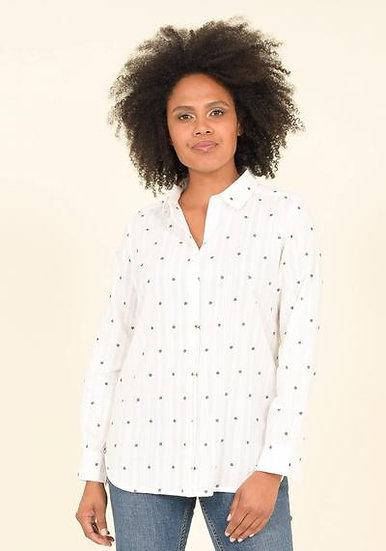 Brakeburn - White Cotton Star Shirt