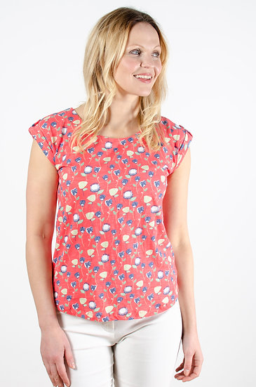 Lily & Me - Surf Side Tee Tulips Pink