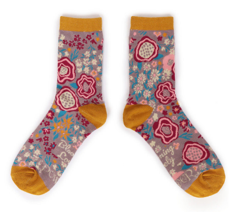 Powder - Abstract Floral Ankle Socks