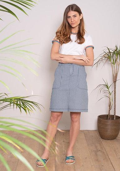 Brakeburn - Stripe Denim Skirt