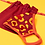 Thumbnail: Powder- Embroidered Face Covering - Leopard Damson