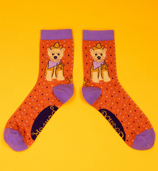 Powder - Western Westie Ankle Socks