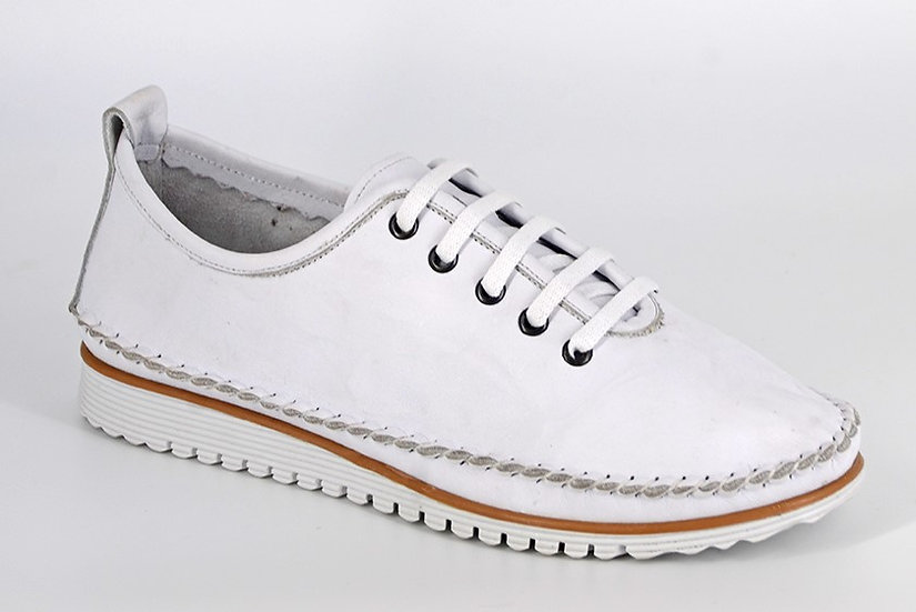 Mod Comfy - WhiteSoftie Leather