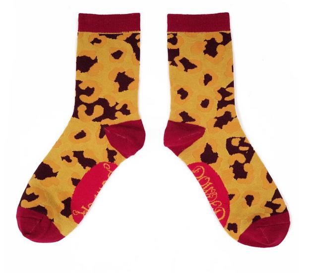 Powder - Leopard Print Ankle Sock