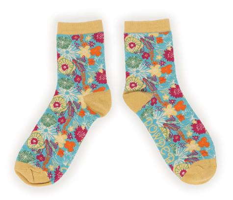 Powder - Modern Floral Ankle Socks
