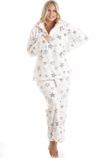 Camille - Star Burst Funnel Neck Pyjama