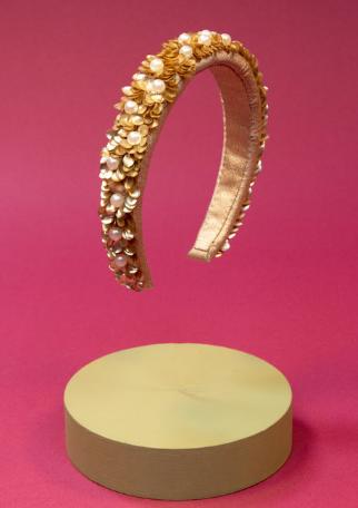Powder - Padded Headband Velvet Pearl