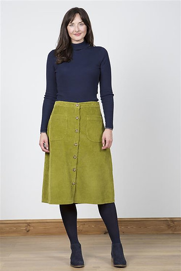 Lily & Me - Button Through Skirt Winter Lime