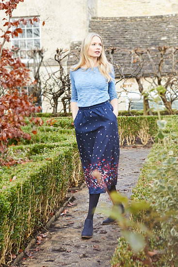 Lily & Me - Flora Skirt Kyoto Boarder