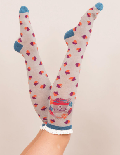 Powder - Nerd Bear Knee High Socks