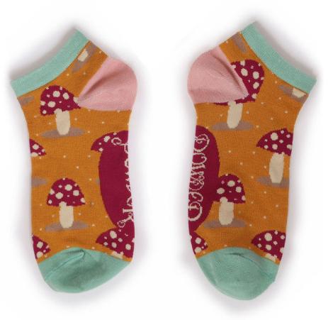 Powder - Toadstools Trainer Socks