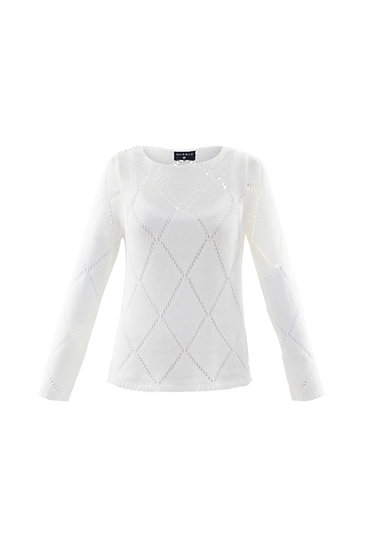 Marble Scotland -White Sweater with Vest