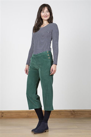 Lily & Me - Charlotte Cropped Trouser Pine Green