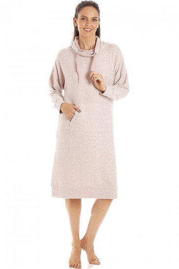 Camille -Pink Marl Comfy Fit Hacci Lounger