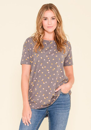Brakeburn - Grey Dotty T-Shirt