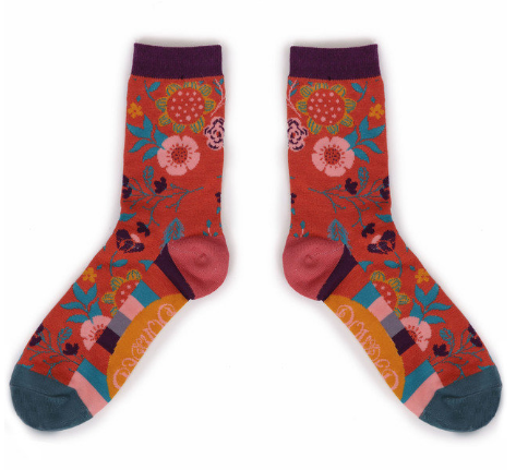 Powder - Scandi Floral Ankle Socks