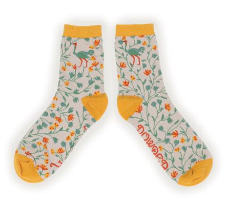 Powder - Ostrich Ankle Socks