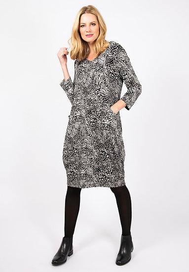 Capri - Black & White Dress