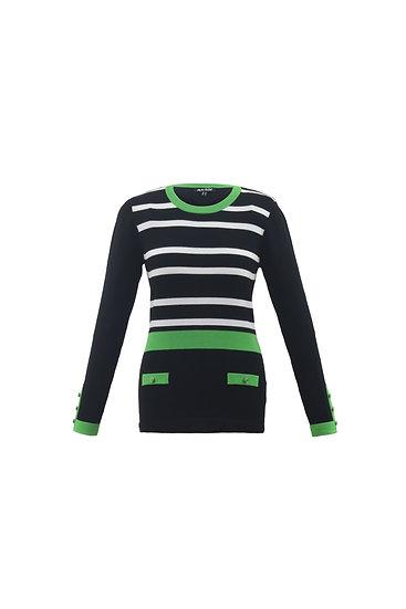 Marble Scotland - Green Stripe Sweater