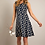 Thumbnail: Weird Fish - Paisley Organic Cotton Printed Jersey Dress Navy