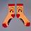 Thumbnail: Powder - Western Hedgehog Ankle Socks