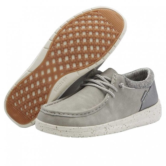 Hey Dude Shoes- Polly Recyc Leather Grey