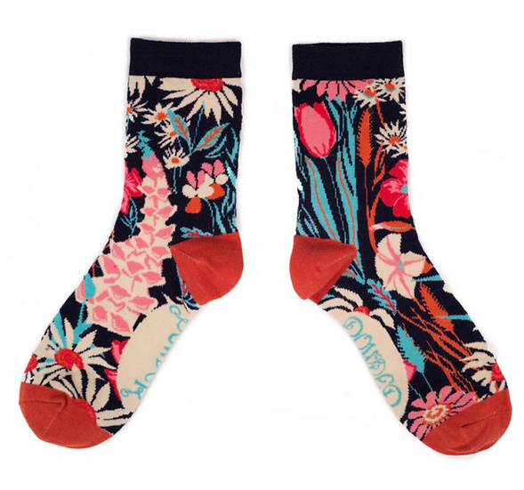 Powder - Country Garden Ankle Sock Navy