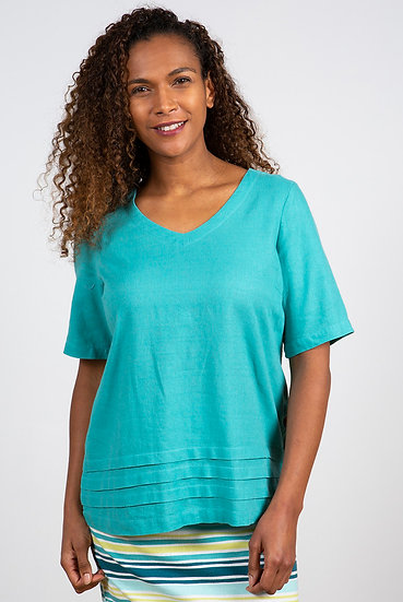 Lily & Me - Bluebell Top Turquoise