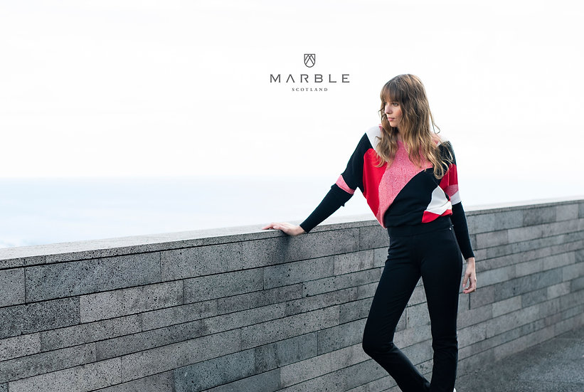 Marble Scotland - Abstract Red Sweater