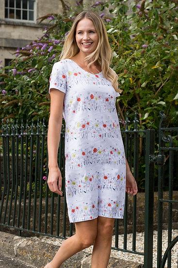 Lily & Me -Floral Stripe Shift Dress